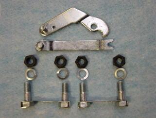 リアベアリングハウジング固定ボルト&サイドブレーキアームです。 これはユニクロームメッキをかけてあります。