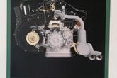 オンタリオSS オリジナル エンジンポスター(背景グリーンフレームにブラック)